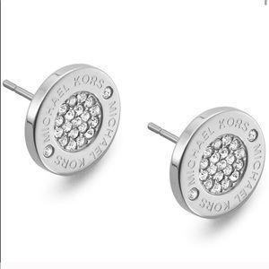 Michael Kors Women's Stud Bling Earrings in Silver